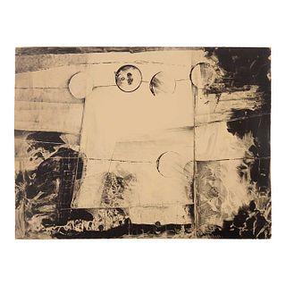 """JOSÉ LAZCARRO (Puebla, 1941-). Siglo XX. """"Albuquerque Nuevo México. Tamarind Work Shop"""". Litografía. Firmada. Fechada 1996."""