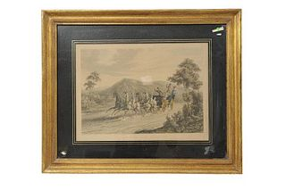 Reve, R. G. / New House, C. B. One Mile from Gretna. Published B. Mofs & Co., sin año. Grabado coloreado, 32 x 43.5 cm. Enmarcado.