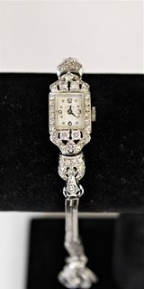 Ladies Hamilton Diamond & 12k White Gold Watch