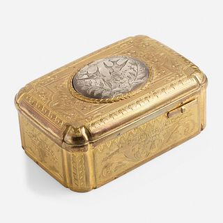 Silver gilt Automaton Swallow box