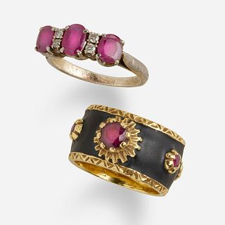 Two ruby rings