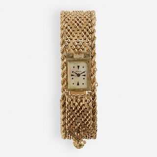 Diamond and gold watch bracelet