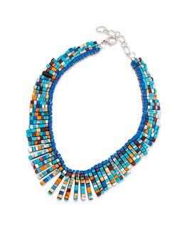 Charlene Sanchez Reano (KEWA, 20TH CENTURY) Attributed, Reversible Mosaic Inlay Multi-Stone Necklace