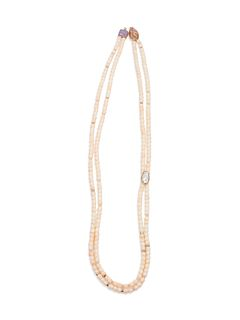 Gail Bird and Yazzie Johnson (DINE, B. 1949 and B. 1946) Double-Strand Necklace with 14k Gold
