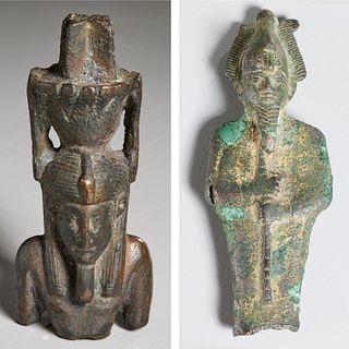 Ancient bronze Nefertem & Osiris, ex-museum
