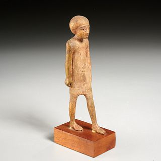 Ancient Egyptian giltwood statuette, ex-Komor