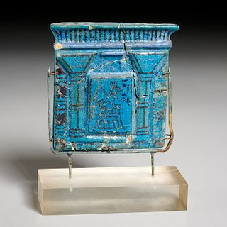 Ancient Egyptian Faience amulet plaque, ex-Komor