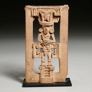 Pre-Columbian Teotihuacan clay gate leg