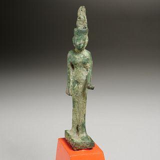 Ancient Egyptian bronze figure of Neith, ex-museum