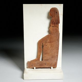 Ancient Egyptian carved seated diety, ex-Komor