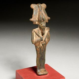Ancient Egyptian Bronze Osiris, ex-museum