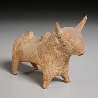 Late Helladic period Mycenaean bull, ex-Komor