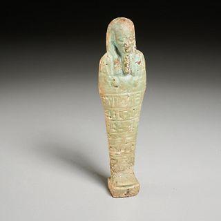Large Egyptian faience Ushabti, ex-museum