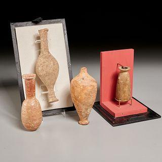 (4) Greek and Phoenician alabastron, ex-museum