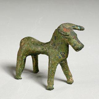 Geometric Greek bronze bull, ex-Mathias Komor