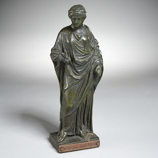 Roman style bronze figure of a Goddess, ex-museum