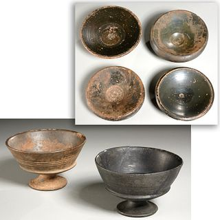 (6) Ancient Etruscan & Greek objects, ex-museum