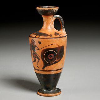 Ancient Greek black-figure pottery jug, ex-museum