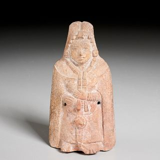 Pre-Columbian Mayan ceremonial rattle figure