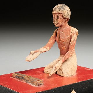 Ancient Egyptian scribe & palette, ex-museum