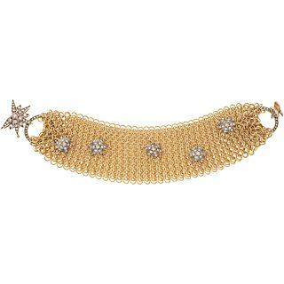 DIAMONDS WRISTBAND. 18K YELLOW AND WHITE GOLD. H STERN