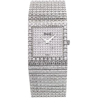 PIAGET WITH DIAMONDS. 18K WHITE GOLD. REF. 8354