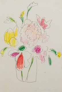 Cy Twombly (Lexington 1928-Roma 2011)  - Flowers, 1960/'70