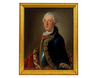 Johann Wilhelm Schutze (German, 1814-1874) Portrait of Jacob Carl Schenke
