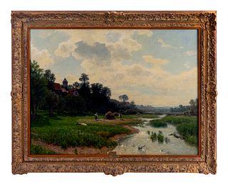Hermann Emil Pohle (German, 1863-1914) Landscape