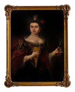 Artist Unknown (Continental, 18th Century) Portrait of Maria Lecszinska