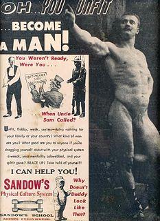 Antique Lithograph Advertisement for Sandow's Body Building