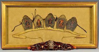 Tibetan Buddhist Crown Ringga & Tibetan Bone Bracelet
