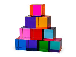 Vasa (American, b. 1933) Ten Cubes