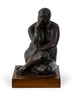 Felipe Castañeda(Mexican b. 1933Untitled (Seated Nude)