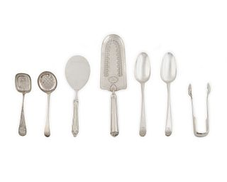 A Group of American and English Silver Serving Utensils