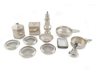 A Group of English and American Silver and Silverplate Articles