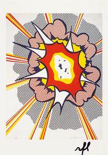 Roy Lichtenstein (American, 1923-1997) Explosion; Postcard Edition