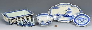 5 Chinese Blue and White Porcelain Items