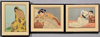 3 Paul Jacoulet Woodblock Prints