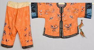 Chinese Mandarin Robe & Pants w/ Binding Shoes