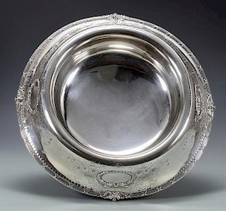 "Large Sterling Center Bowl, 15-1/2"" diameter"