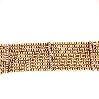 14k Yellow Gold Pearls Victorian Bracelet