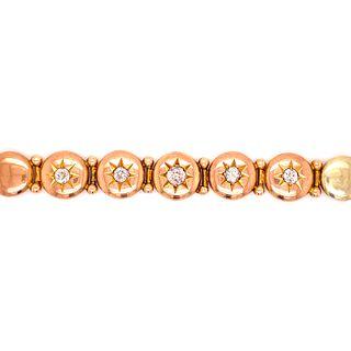 Victorian Diamonds 14k Gold Bracelet
