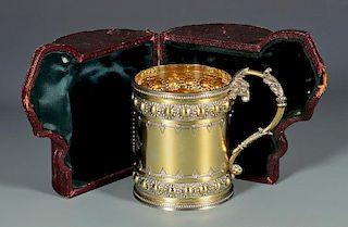 Gilt Silver Cup in Presentation Case