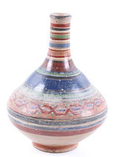 Mid 1900's Acoma Polychrome Pottery Vase