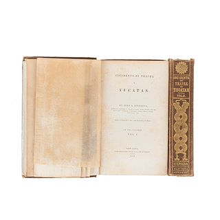 Stephens, John L. Incidents of Travel in Yucatan. New York: Harper & Brothers, 1843. 4o., Tomes I - II. Pieces: 2.