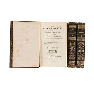 Galván Rivera, Mariano. La Tierra Santa o Descripción Exacta de Jope, Nazaret, Belén, el Monte de los Olivos, Jerusalén..., 1842. Pieces:3