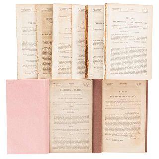 Reportes Referentes al Coronel John Charles Frémont en California, durante la Guerra entre México y E.U.A. Pieces: 8.