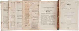 Reportes sobre  Límites entre México y E.U.A. a partir de  los Tratados de Guadalupe Hidalgo (1848) y de La Mesilla (1853). Pieces: 7.