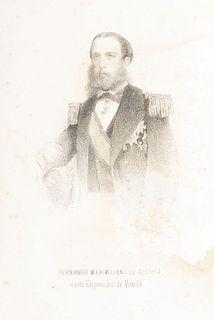 Valle, Juan N. del. El Viajero en México. Completa Guía de Forasteros para 1864. México, 1864. With portraits of Maximilian and Carlotta.